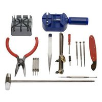 Wholesale Popular pc set Watch Repair Tool Kit Band Pin Strap Link Remover Back Opener NO181 V65NEW BOU