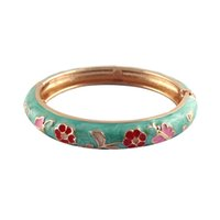 Bangle chinese style Women's flower bangles fashion enamel bracelet for baby kids cute bangles unique accessories best birthday gift A067D