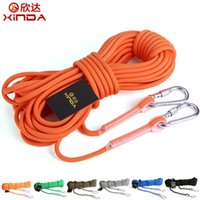 Wholesale 10 M colors Outdoor Climbing Rope Escape Lifesaving Static Rope Safety Diamete Rope Climbing Rope Rappelling Rope Auxiliary Rope