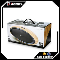 Acheter Hifi vidéo audio-Haut-parleur de haute qualité de bluetooth de Remax HIFI Haut-parleur audio et vidéo en bois d'utilisation à la maison