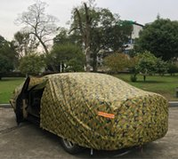 Wholesale 1pcs Jungle Camouflage Car Garments KG With Thicker Cotton Anti theft Waterproof Night Reflective Warning Warm Password Lock Car Covers