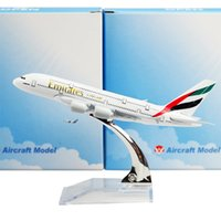airplane emirates - The United Arab Emirates Airline A380 cm Arplane Child Airplane Models Toys Birthday Christmas Gift For Mens