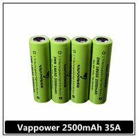 Wholesale Perfect quality A Vappower mah mah high discharge rate e cig battery better performance than VTC4 VTC5