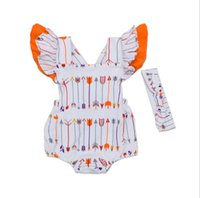 arrow covers - INS baby girl toddler Summer clothes piece set outfits arrow romper onesies jumpsuits bloomers diaper covers Lace Sleeve Bow headband