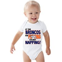 baby broncos - If the Broncos are playing I m not napping onesie baby white outfit boy girl baby gift clothes newborn