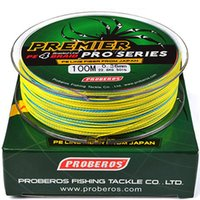 Wholesale 12box m series Multicolored Super Strong Braided Multifilament fishing lines LB braid fishing lines PE line