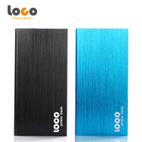 Wholesale Original LOCO Ultra Slim Portable Power Bank mAh Polymer Powerbank Mobile Charger External Battery Backup Pack for mobile