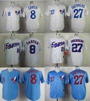 Wholesale Montreal Expos Jersey Vladimir Guerrero Blue Gary Carter White Baseball Jersey Baseball Wear Athletic Mix Orders