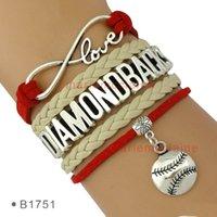 arizona bracelet - Pieces Infinity Love Baseball Arizona Diamondbacks Bracelet Mens Womens Custom Any Themes Drop Shipping