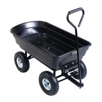Wholesale 650LB Garden Dump Cart Dumper Wagon Carrier Big Wheel Barrow Air Tires Heavy Duty