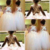 Wholesale Latest Flower Girl Dresses Princess Ball Gown Communion Party Pageant Dress for Little Girl Kids Children Dress for Wedding