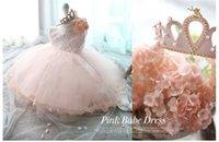 al por mayor trajes de fiesta para bebés-Summer Party Prom Ropa Princesa Kids 'Outfits Baby Girl Vestido Princesa Niños Vestidos de una sola pieza Lace Bowtie sin mangas