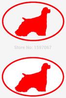 Precio de Perros perro de aguas-Automóvil Productos de la motocicleta Etiqueta del vinilo Etiquetas engomadas del coche Etiquetas engomadas del vidrio Etiqueta engomada de los rasguños Jdm 2 Cocker Spaniel Oval de la raza del perro