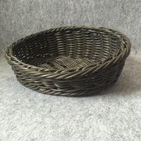 antique rattan - New design multifunction fruit decorative basket PP imitation rattan storage baskets