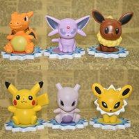 Wholesale 6pcs bag Pocket Monster Poke Go Pikachu Charmander Souirele Bulbasaur Animal Toys Doll cm