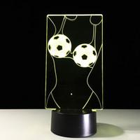 aa underwear - 2016 Football Underwear D Illusion Night Lamp D Optical Lamp AA Battery DC V