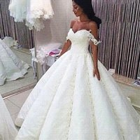 african delivery - African Off The Shoulder Wedding Dresses Sexy lace Appliques Satin Puffy Vintage Wedding Dress Custom Made Zipper Bridal Gowns Fast Delivery