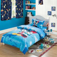 Wholesale Hot Sale Kids Cartoon D Bedding Set Kids Cotton pc Bedding Set Duvet Cover Bed Sheet Pillowcases