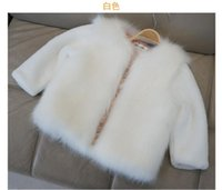 Wholesale Fashion Kids clothes winter fur coat for girls baby clothes parka elegant clothing for girls girl outerwear luxury faux fur