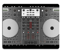 backgrounds desktop - Mousepads top view of dj mixer controller isolated on black background Customized Art Desktop Laptop Gaming mouse Pad