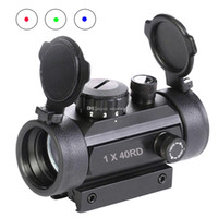 Wholesale New Hot x40RD Tactical Holographic Reflex Red Green Blue Dot Sight lighted Scope F00458 OSTH