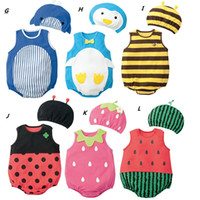 Wholesale Baby Romper Children Clothing Set Baby Rompers Costume Kids Newborn Clothes Children Infant Clothing Set Top Hat