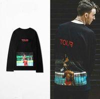 Wholesale 100 I Feel Like Pablo Collection Kanye West Tour Saint Pablo Shirt Kim Kardashian Play Tennis Printed Clothes Black