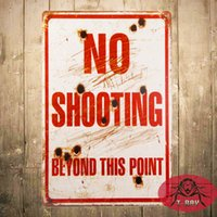 barn decoration - T Ray Vintage Gun Sign for the Garage No Shooting Beyond This Point Gun Sign Barn or Man Cave Rusty style