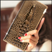 beige leather sectional - Retail Handbags Ms Genuine Leather Long sectional Leather trifold wallet Crocodile Multi card Wallets Top grade Purse Clutch colors Choos