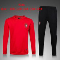 Wholesale 2017 Portugal Children soccer wear Tracksuits top quality Training suit France High Neck Tracksuits Children s football training clo