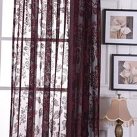Wholesale m European Cotton and linen Rose Embroidered screens Curtains For Bedroom living Room Blackout Semi shadeCurtains