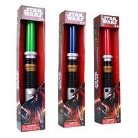 big boy blue - Star Wars Anakin to Darth Vader Stretch Lightsaber Toy for Boys Children LED toy sword Flash Sword Red Blue green Color Sound
