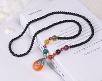 Wholesale Folk swestyle retrater chain thousand eyes Bodhi Female Long NecklaceNecklace for various occasions Elegant accessories Pendant