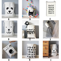 Wholesale INS Home Storage Bags Popular Cartoon Animal Baby Toy Bags Kids Room Cute Decorate Outdoor Lovely Bear Batman Heart Bags