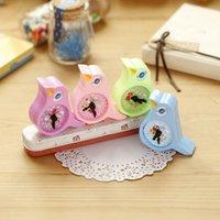 Wholesale X Kawaii Birds Alarm Clock Hand Pencil Sharpener Child Stationery Escritorio Papeleria for Kids Creative Item Gift Stationery