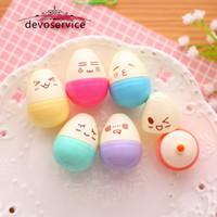 Wholesale Mini Smile Egg Highlighter Pens Marker Pen Kawaii Stationery Material Escolar Papelaria Writing School Supplies