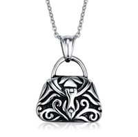 ash handbag - 2016 new listing Handbag Pendant with O chain can open the ashes of pet stainless steel pendant