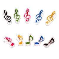 Wholesale Exquisite small score treble clef quaver music scores clip toys outdoor Sketch clip colors