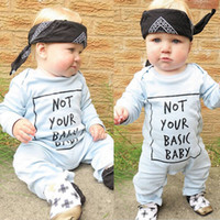 basic c - 2016 sweet kids boy girl rompers children Boys Girls Warm Infant cotton outfits not your basic baby funny letter printed Jumpsuit Bodysuit C