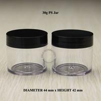 Acheter Ongles glitter pots-30g 1 oz Vide bouteilles en plastique en plastique bouteille de cosmétiques avec couvercles Pour contenants cosmétiques emballage poudré en poudre