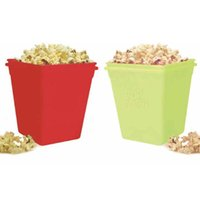 Wholesale DHL Microwave Silicone Popcorn Maker BPA Free Red Squared Bowl With Lid Also Great for Treats and Snacks