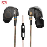 ate support - 100 Original KZ ATE mm In Ear Earphones Stereo Sport Earphone Super HIFI Bass Noise Isolating With Mic Support