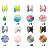 Wholesale Newest PopSockets Without logo Expanding Stand and Grip Card holder phone holder for for Smartphones and Tablets For Iphone Samsung