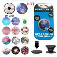 Wholesale Christmas gift designs PopSockets Expanding Stand and Grip for Tablets Stand Bracket Phone Holder Pop Socket M Glue for iPhone