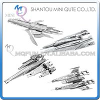 Wholesale Mini Qute Piece Fun D Mass effect SX3 Alliance Normandy SR2 Turian Cruiser Metal Puzzle adult DIY game models educational toy