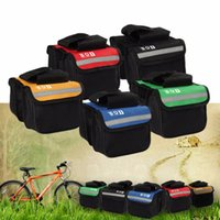 Wholesale New Arrival cm L Bicycle Cycling Bag Bike Top Tube Saddle Bag Bicycle Frame Pannier Bag Rack Bicycle Accessories H1E1