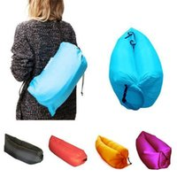Wholesale Fast inflatable air sleeping bag waterproof lazy sofa bed festival camping hiking travel