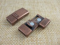 Wholesale 5 Sets Antique Copper Strong Magnetic Clasps mmx2mm For mm mm Flat Leather Cord