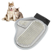 Wholesale NEW Dog Hair And Fur Remover Mitt Cat Bath Wash Grooming Glove Brush Dogs Cleaning Massage Comb For Long Short Pets F2017177