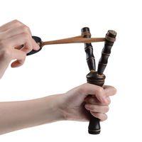 Wholesale Creative new strange children woodiness slingshot Bamboo shape outdoor Hunting shooting toys